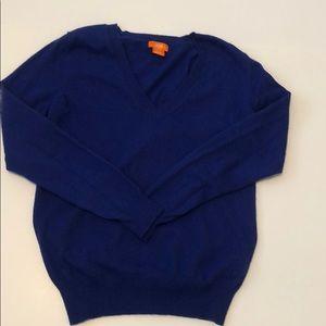Royal blue v-neck sweater